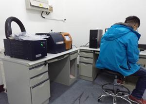 技術售後工程師爲天津核工業理化程研究所現場調試檢測儀器