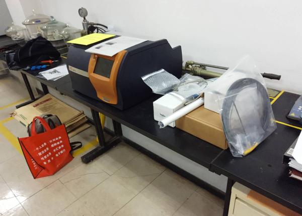 天津乐金渤海化学有限企业仪器验收现场